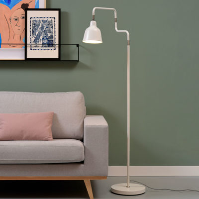 Black iron tube floor lamp, London, it's About RoMI