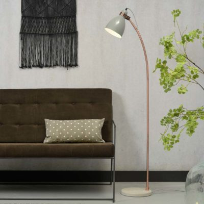Grey iron copper tube floor lamp, Denver, It's About RoMI