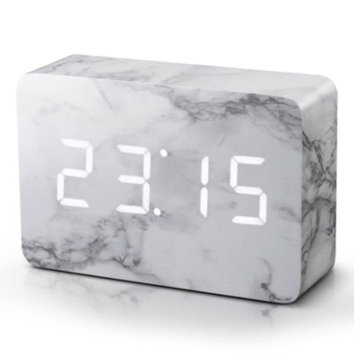 Marble Digital Clock, Gingko, Brick Click Clock
