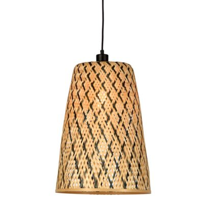 black and natural Bamboo Hanging lamp, Kalimantan, Good and Mojo