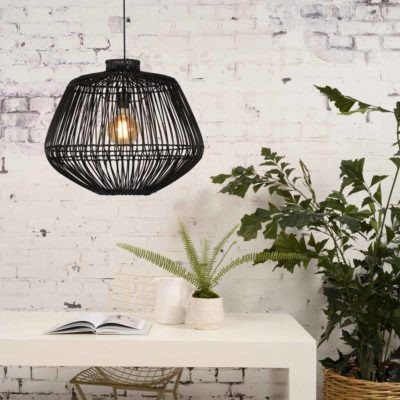 black rattan hanging lamp, Good and Mojo