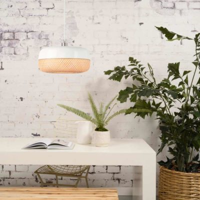 flat bamboo hanging lamp, Good and Mojo