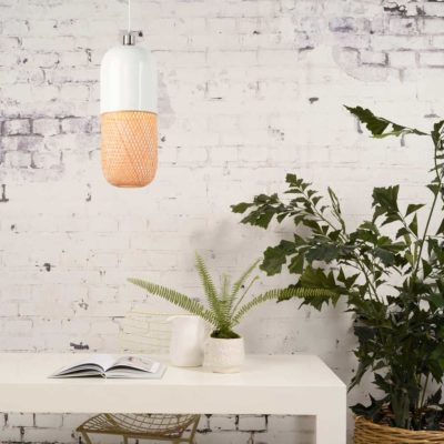 round bamboo hanging lamp, Good and Mojo