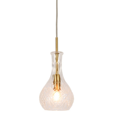 transparent/gold drop glass hanging lamp, Brussels, it's about Romi