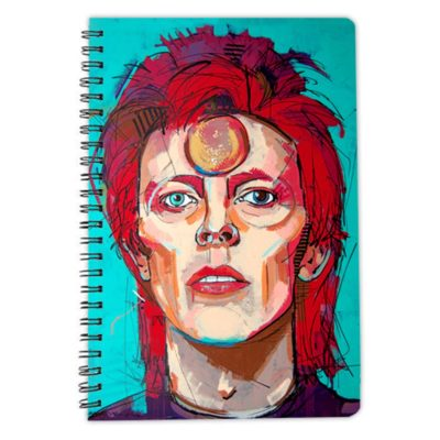 Instant star david bowie notebook spiral artwow