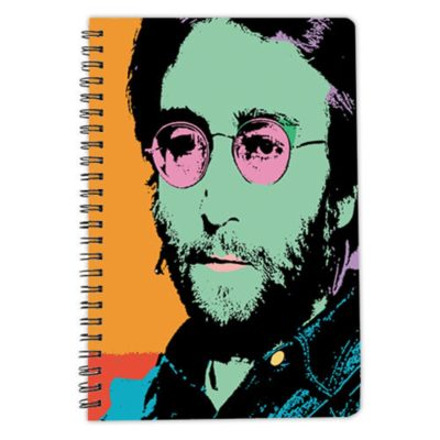 John Lennon notebook spiral artwow