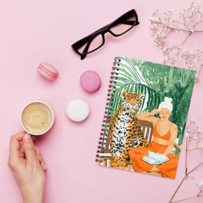 Jungle Vacay notebook spiral Artwow