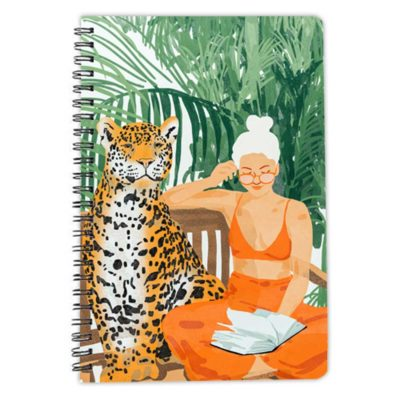 Jungle Vacay spiral notebook artwow