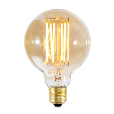 LED bulb filament/E27 dimmable, diameter 8cm