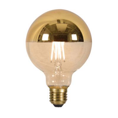 LED bulb globe filament mirror gold dia.9,5 x h14cm It's About Romi