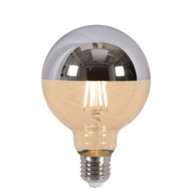 LED bulb globe filament mirror silver dia.9,5 x h14cm It's About RoMI