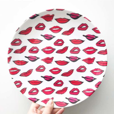 Red Lippy Pattern plate artwow