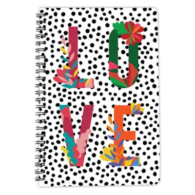 Love Floral colourful spiral notebook artwow