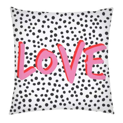 White and Pink Love cushion artwow