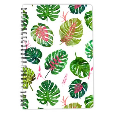 Monstera Love green notebook spiral artwow