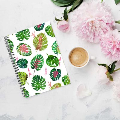 Monstera Love notebook spiral Artwow