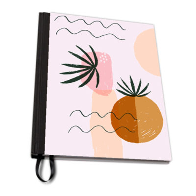 Muse pink notebook fabric artwow
