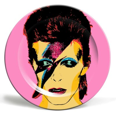 Pink Decorative Plate David Bowie