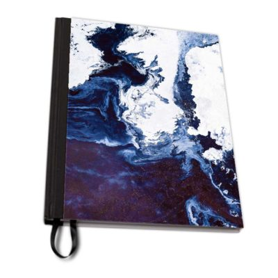 Surface in Concept blue notebook fabric artwow