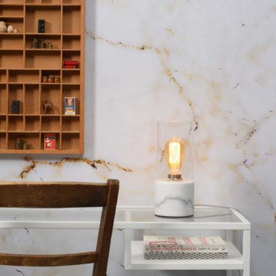 white glass marble table lamp, Athens, it's about Romi