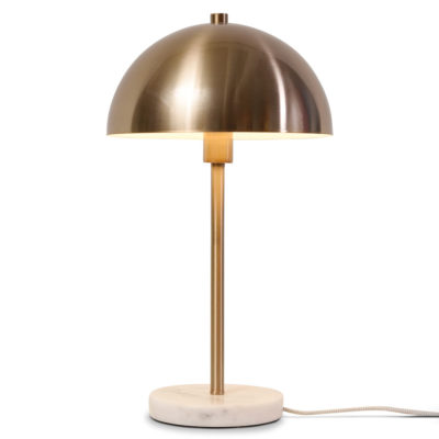 gold iron, white marble table lamp, Toulouse, it's about Romi