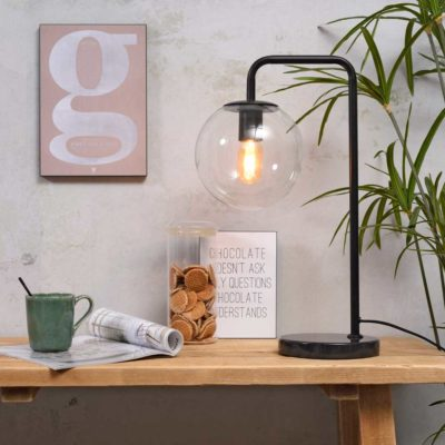black iron table lamp, Warsaw, it's about Romi
