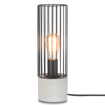 black iron thread and cement table lamp, Memphis, it's about Romi
