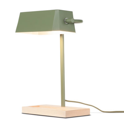 green iron and wood table lamp, Cambridge, it's about Romi