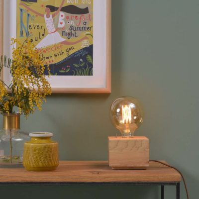 wood square table lamp, Kobe, it's about Romi