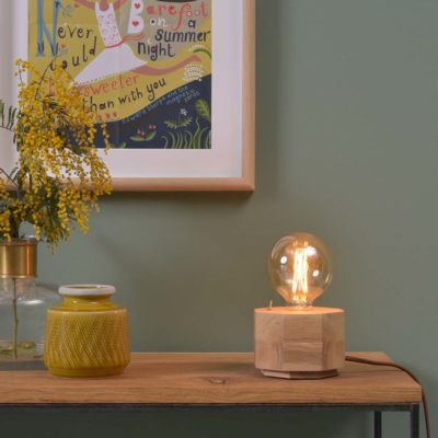 wood octagon table lamp, Kobe, it's about Romi
