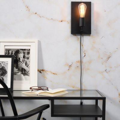 Black iron wall lamp, Madrid, it's About RoMI