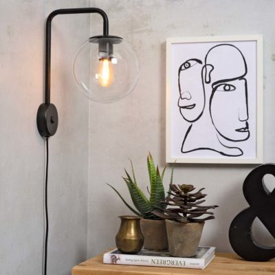 black iron wall lamp, Warsaw, it's about Romi