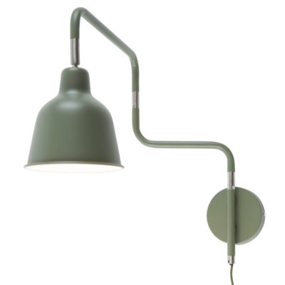 Green iron/tube wall lamp, London, It's About RoMI