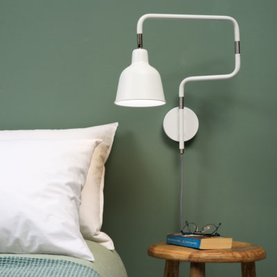 White iron/tube wall lamp, London, It's About RoMI