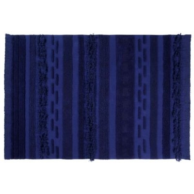 blue washable cotton rug, Air, Lorena Canals