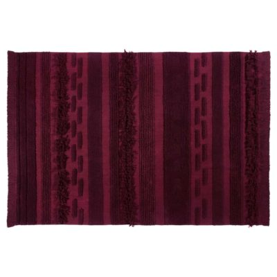 red washable cotton rug, Air, Lorena Canals