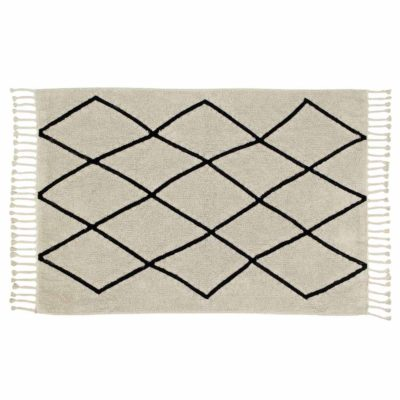 beige washable cotton Berber rug, Lorena Canals