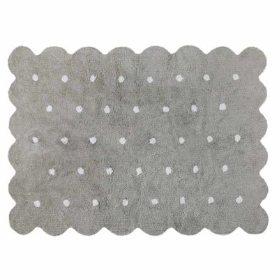 grey washable cotton biscuit rug, Lorena Canals