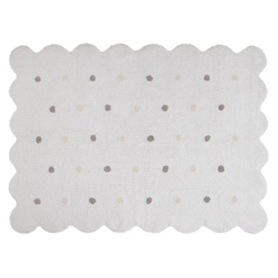 white washable cotton biscuit rug, Lorena Canals