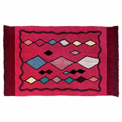red washable cotton Morocco rug, Lorena Canals