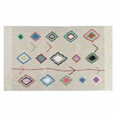 beige washable cotton Morocco rug, Lorena Canals