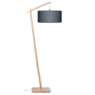 Grey linen bamboo floor lamp, Andes, Good and Mojo