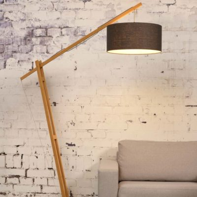Grey Linen Bamboo Floor lamp, Montblanc, Good and Mojo