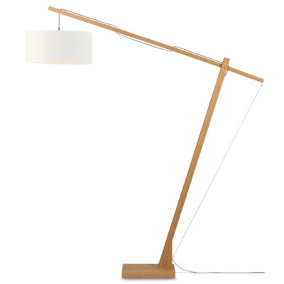 white Linen Bamboo Floor lamp, Montblanc, Good and Mojo