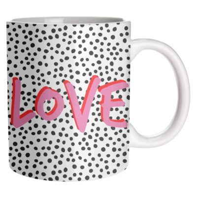 Mug Artwow Love Polka