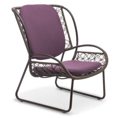 Purple Easy Armchair, Adesso by Kenneth Cobonpue