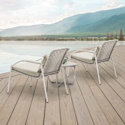 outdoor Easy Armchair, Aria by Kenneth Cobonpue