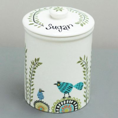 Birdlife Sugar Storage Jar by Hannah Turner