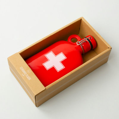 red Ceramic Flask Apothecary, Atlantic Folk