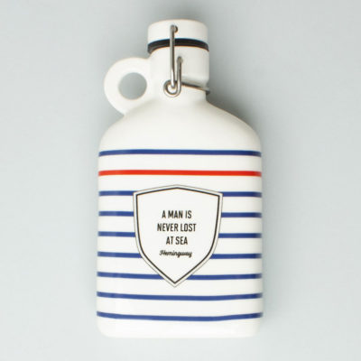 Ceramic Flask Hemingway, Atlantic Folk